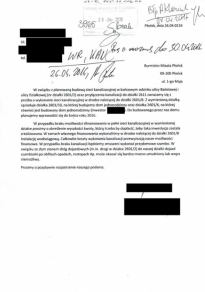 Informacja Urzędu Miejskiego w Płońsku z dnia 24 października 2016 roku