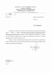 Wymiana okien - przetarg w KWP z siedzibą w Radomiu