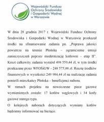 Poprawa jakości powietrza na terenie Płońska