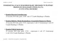 Posiedzenia Stałych Komisji Rady Miejskiej w Płońsku