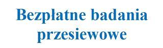 Profilaktyczne Programy Zdrowotne finansowane przez NFZ na terenie powiatu płońskiego